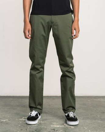 1 Week-end Stretch Pants Green MC303WST RVCA