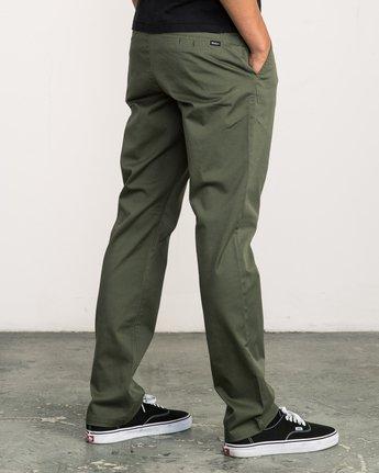 4 Week-end Stretch Pants Green MC303WST RVCA