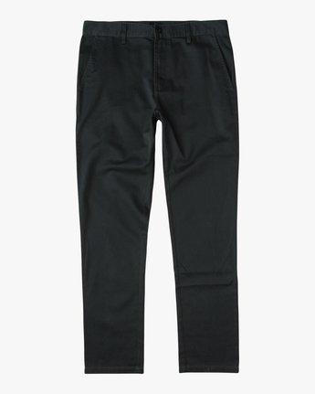 6 The Dayshift II Chino Pants Black MG302DAY RVCA