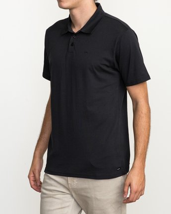2 Sure Thing II Polo Black MJ922SUR RVCA