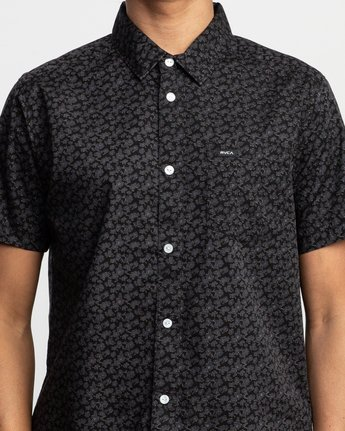 4 Porcelain Printed Short Sleeve Shirt Black MK507POR RVCA