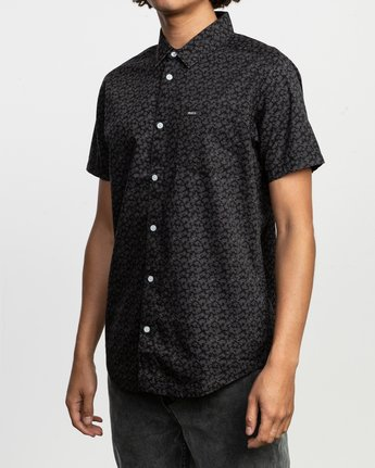 2 Porcelain Printed Short Sleeve Shirt Black MK507POR RVCA