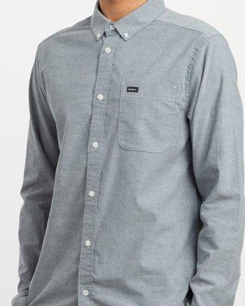 4 That'll Do Stretch Long Sleeve Shirt Blue ML501TSL RVCA