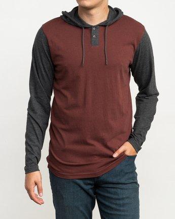 1 Pick Up Hooded Knit Shirt Red ML916PIH RVCA