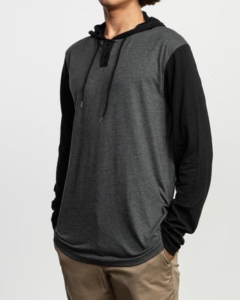 2 Pick Up Hooded Knit Shirt Grey ML916PIH RVCA