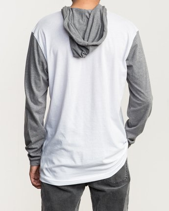 3 Pick Up Hooded Knit Shirt White ML916PIH RVCA