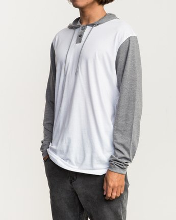 2 Pick Up Hooded Knit Shirt White ML916PIH RVCA