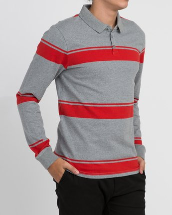 3 KL Rugby Long Sleeve Polo  MM906KLR RVCA