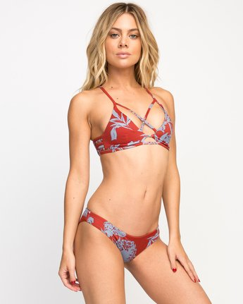 2 Deserted Floral Bralette Bikini Top  SMXT02DB RVCA