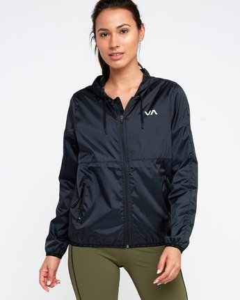 1 Hex Packable Windbreaker Jacket Black T704TRHE RVCA