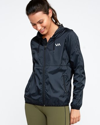 2 Hex Packable Windbreaker Jacket Black T704TRHE RVCA
