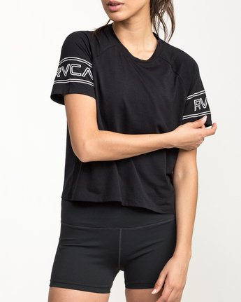 4 Freestyle Performance T-Shirt Black T975QRFR RVCA