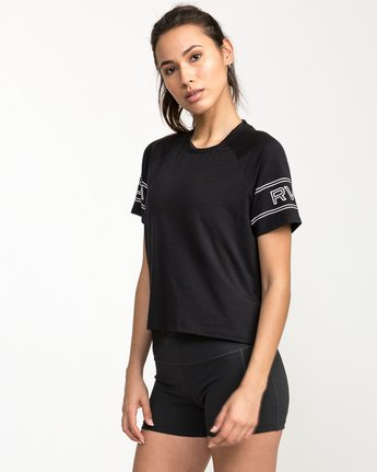 2 Freestyle Performance T-Shirt Black T975QRFR RVCA
