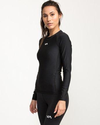 2 VA Performance Long Sleeve Shirt Black TR73QRJL RVCA