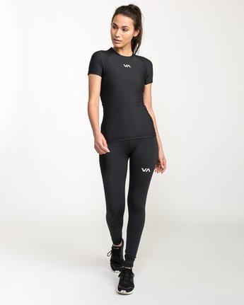 4 VA Performance Short Sleeve Shirt Black TR74QRJS RVCA
