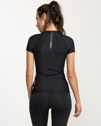 2 VA Performance Short Sleeve Shirt Black TR74QRJS RVCA