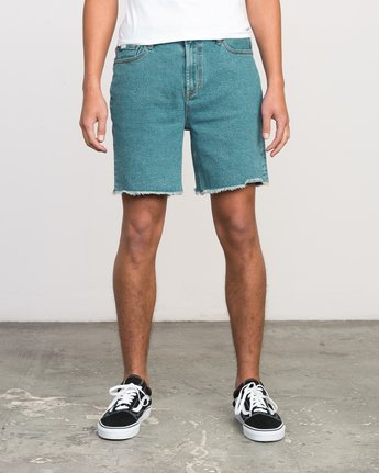 1 Neutral Carver Denim Shorts Blue U252PRCA RVCA