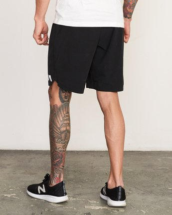 "3 Train 19"" Lined Short Black V202TRTL RVCA"
