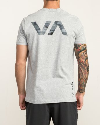 4 Big RVCA Sport T-Shirt Grey V402SRBI RVCA