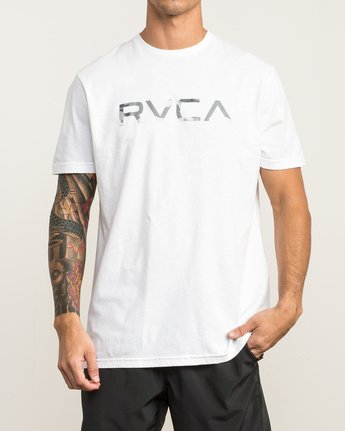 2 Big RVCA Sport T-Shirt White V402SRBI RVCA
