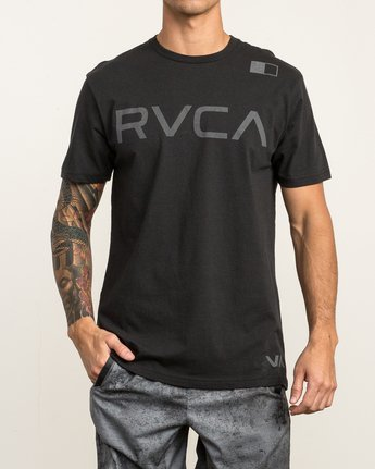 2 Flipped T-Shirt Black V402SRFL RVCA