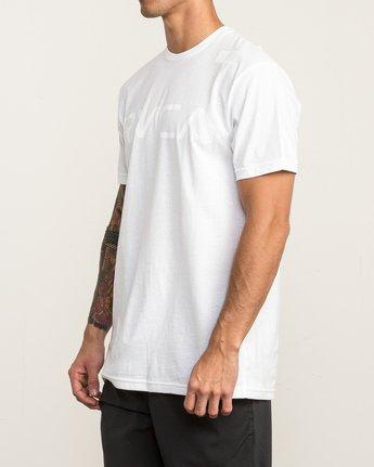 3 Flipped T-Shirt White V402SRFL RVCA
