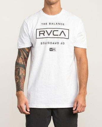 2 Stacked T-Shirt White V402SRST RVCA