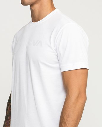 5 Stealth Seal Performance T-Shirt White V404TRST RVCA