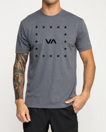 1 VA Corners Performance T-Shirt Grey V404TRVA RVCA