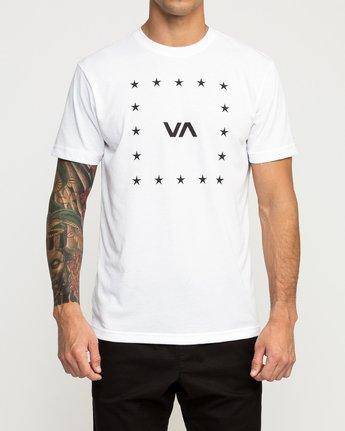 1 VA Corners Performance T-Shirt White V404TRVA RVCA