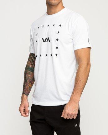 2 VA Corners Performance T-Shirt White V404TRVA RVCA