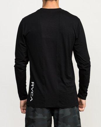 4 VA Vent Long Sleeve Top Black V903QRVL RVCA
