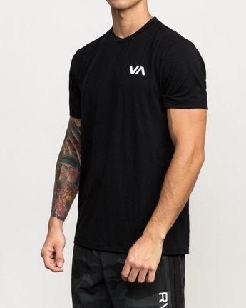 2 VA Vent Short Sleeve Top Black V904QRVS RVCA