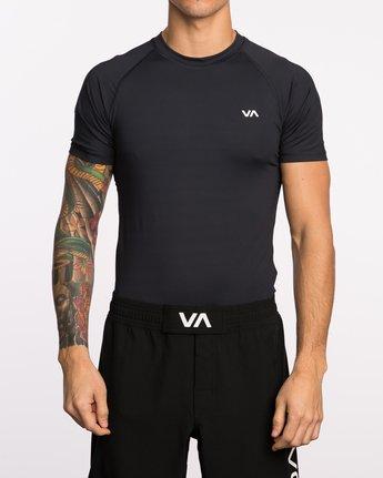 1 VA Sport Short Sleeve Compression Shirt Black VL903CPS RVCA