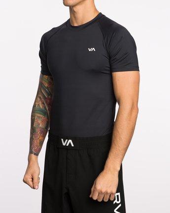 2 VA Sport Short Sleeve Compression Shirt Black VL903CPS RVCA
