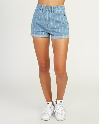2 Hi Roller High Rise Denim Short Blue W201TRRO RVCA