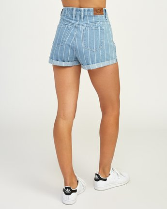 5 Hi Roller High Rise Denim Short Blue W201TRRO RVCA