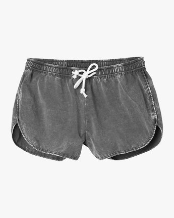 5 Exposure Acid Wash Elastic Short Black W206PREX RVCA