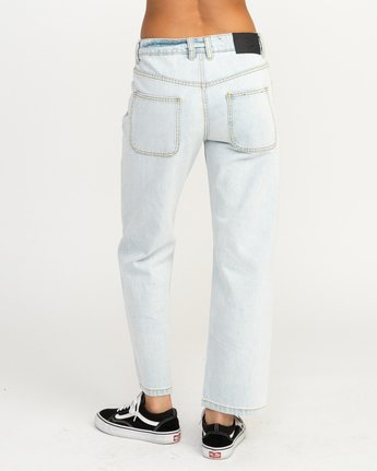 4 Filtered Straight Leg Denim Jean White W301QRFL RVCA