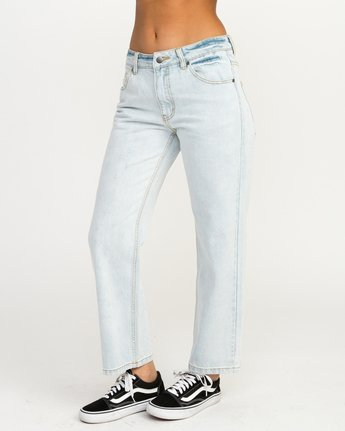 2 Filtered Straight Leg Denim Jean White W301QRFL RVCA