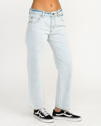 6 Filtered Straight Leg Denim Jean White W301QRFL RVCA
