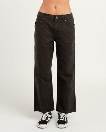 1 RVCA Tripod Wide Leg Pant Black W301QRTR RVCA