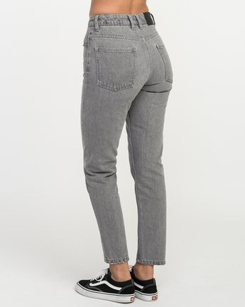 3 Piper High Rise Tapered Denim Jean Grey W302QRPI RVCA
