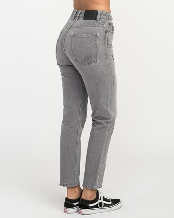 5 Piper High Rise Tapered Denim Jean Grey W302QRPI RVCA