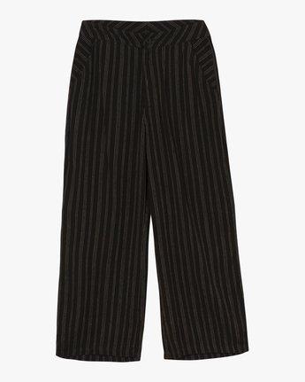 7 Power High Rise Twill Pants Black W303SRPO RVCA