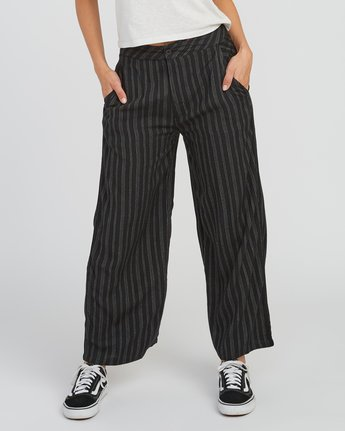0 Power High Rise Twill Pants Black W303SRPO RVCA