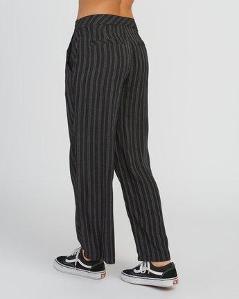 3 Power High Rise Twill Pants Black W303SRPO RVCA