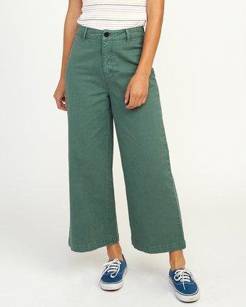 1 Niku High Waist Cropped Trouser Green W303TRNI RVCA