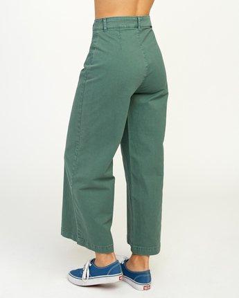 3 Niku High Waist Cropped Trouser Green W303TRNI RVCA