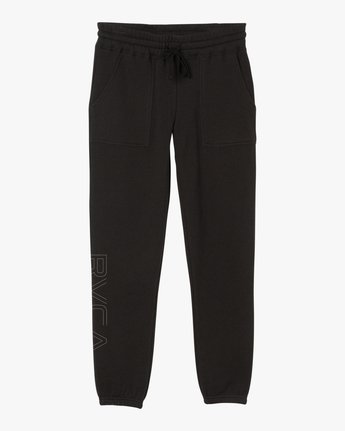 7 Pinner Fleece Sweat Pant Black W322SRPI RVCA